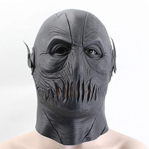 VAWAA Die Flash Black Maske Reverse-Flash Film Figuren Cosplay Requisiten Halloween Full Face Latex Maske Helm Kapuze Partei Masken