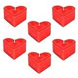 Herzkerzen - 6er Set - Herzform Kerzen, Herz-Kerzen, Herz, Kerzen, Valentienstagskerzen,