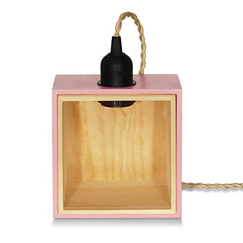 DarkSteve - Private Corner Leuchte - Rosa | FSC-zertifiziertes Holz, add the Designer Light Bulb / Edison Light Bulb, you can enjoy yourself in a more relaxing atmosphere | for Adults & Teens | Great for Gift | Novelty Night Light, Bed Side Lamp | Lamp x 1pc | Special Offer and Product Promotion, Get Free Light Bulb | 1-Year Warranty (Light Bulb not applied) | E27 Screw | #1 Unique Design Rosa Rose Night Light