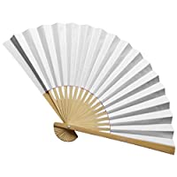 Youdong Double-sided paper fan Chinese Style Hand Held Fan Bamboo Paper Folding Party Wedding Decor Performance Festival Gift decorations Fabric Oriental Handmade