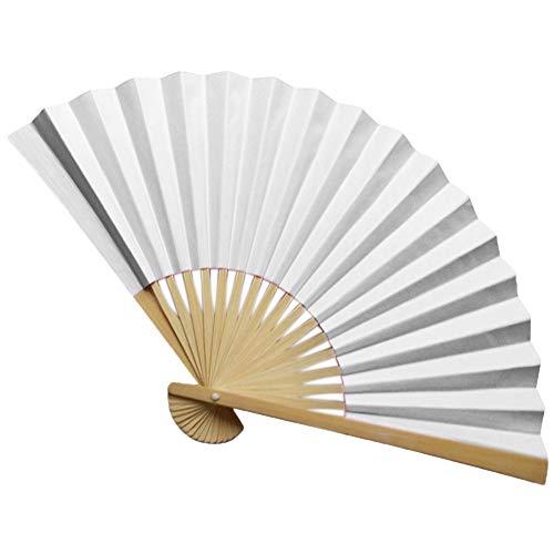 Andouy Retro Faltfächer/Handfächer/Papierfächer/Federfächer/Sandelholz Fan/Bambusfächer für Hochzeit, Party, Tanzen(23cm.A) (Kriegerin Kostüm Muster)