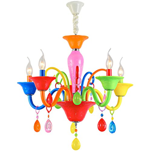 Lustre Creative salon moderne jardin européen enfants lustres de chambre en cristal Éclairage décoratifA+ ( taille : 5- heads )