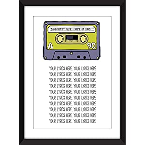 Favourite Song Lyrics Unframed Print – Perfect Gift Idea/Lieblings Liedtexte Unframed Print – perfekte Geschenkidee Ungerahmter Druck