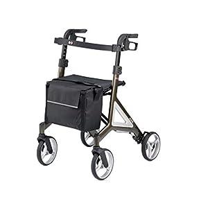 Bischoff Alevo Alu faltbarer Leichtgewichtrollator Rollator • Integrierte Reflektoren • Rückengurt • abnehmbare Tasche