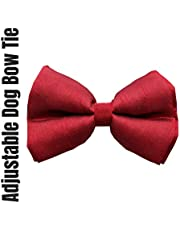 Lana Paws Crimson Red Dog Bow Tie/Dog Bowtie/Dog Gift (Adjustable)