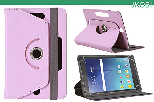 Jkobi 360* Rotating Front Back Tablet Book Flip Flap Case Cover Compatible For iBall Slide WQ 77 -Baby Pink  available at amazon for Rs.225