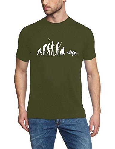 SNIPER EVOLUTION Airsoft T-Shirt oliv-weiss Gr.XL -