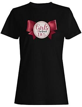 Las muchachas nacen en 1965 novedad linda del arco camiseta de las mujeres ll6f