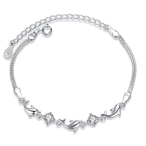 Fashmond Armband für Damen Mädchen aus 925 Sterling Silber & Zirkonia für Kindertag ValentinstagGeschenk