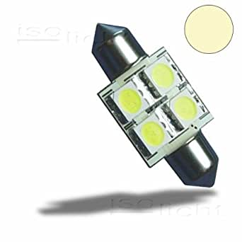 led soffitte 31mm 10 30v dc 4smd 0 7 watt warmwei 55 lumen kfz pkw 12v lkw 24v. Black Bedroom Furniture Sets. Home Design Ideas