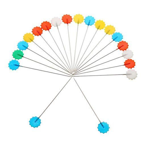 BESPORTBLE 100 stücke Pflaumenblüte Kopf Pins Blume Kunststoff Kopf Push Pins Patchwork Pins für DIY Nähen Handwerk (Zufällige Farbe) -