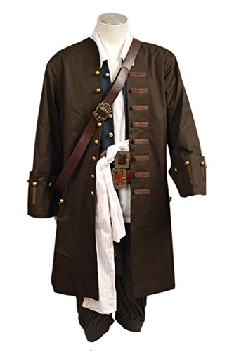 Fuman Pirates Of The Caribbean Jack Sparrow Jacke Mantel Cosplay Kostüm S (Halloween-kostüm Jack Sparrow)