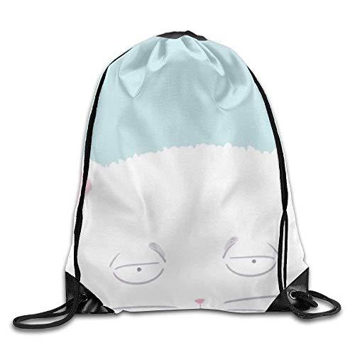 False warm warm Cartoon Cat Drawstring Backpack Rucksack Shoulder Bags Training Gym Sack for Man and Women - Roxy Rolling Rucksack