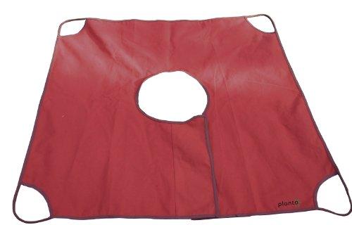 planto 90005 Formschnitt-Tuch Sauber Buchsbaum schneiden mit diesem speziellen Formschnitt-Tuch zum Unterlegen. Auch für andere Solitärgewächse zum Beschneiden geeignet. Mit 4 Tragegriffen
