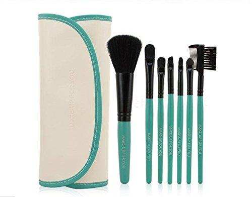 Dosige 7 pcs Set Multifonctionnel Pinceaux Professionnel Pinceaux de Maquillage Yeux Brosse de Brush Cosmétique Professionnel - Vert