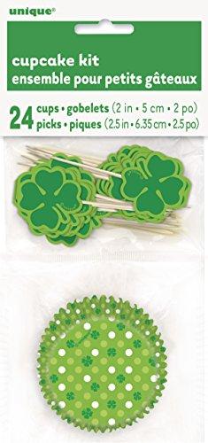 Unique Party Supplies St. Patrick 's Day Cupcake Fällen und Shamrock Cupcake Toppers Kit für 24 (S Patrick Day St Party)