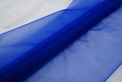 Organza blau 10 m x 70 cm - Organzastoff Dekostoffe Deko