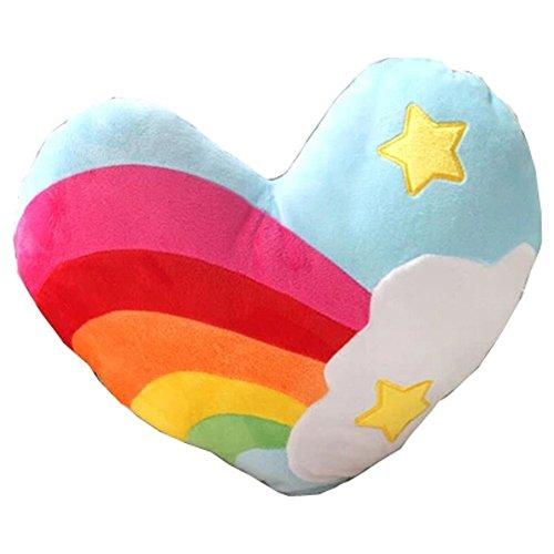 Cuscino Cuscini arcobaleno Cuore del cuscino morbido