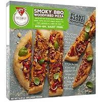 Fry\'s Family Foods Pizza de leña a la barbacoa ahumada 405g   Pizza italiana   Vegano   CONGELADO (Pack de 4)