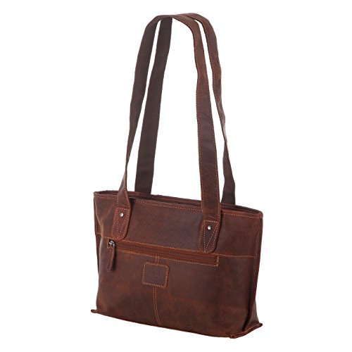Rada Nature Damen Reißverschlusstasche \'Rockingham\' echt Leder Handtasche in verschiedenen Farben (sandal/tan)