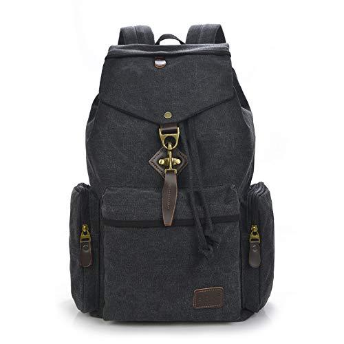 Neue Umhängetasche männlich europäischen und amerikanischen Boutique Herren Canvas Rucksack Trend Mode Rucksack schwarz