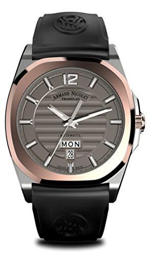 Armand Nicolet Hombre Reloj de Pulsera J09Day & Date con 18KT Oro Bisel Fecha Día de la Semana analógico automático d650aaa de gr de gg4710N de W