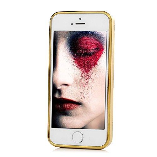 MAXFE.CO TPU Silikon Hülle für iPhone 5 SE Handyhülle Schale Etui Protective Case Cover Rück mit Traumfänger Skin TPU Kantenschutz Treibsand Design Schutzhülle Pfingstrose