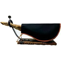 Cubre Jamón Naganu Ideal para Cubrir el Jamón Serrano o Ibérico (Negro)