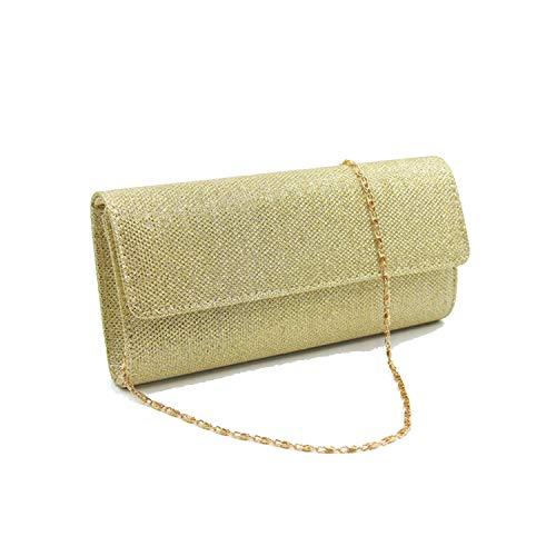 Abenddämmerung Fort-Frauen-Abend-Handtasche Kette Handtasche Brauthochzeitsfest-Tasche Silber,Gold (Hand-taschen Unter 20 Dollar)