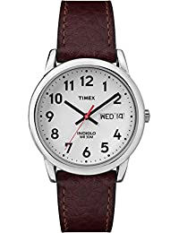Timex Men's Easy Reader Brown Leather Watch - T20041