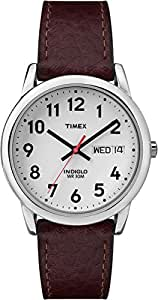 Timex - Homme - T20041 - Heritage Easy Reader - Quartz Analogique - Argent - Marron - Cuir