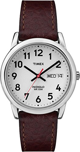 - 418s5qPc1jL - Timex Easy Reader Day-Date Leather Strap Watch