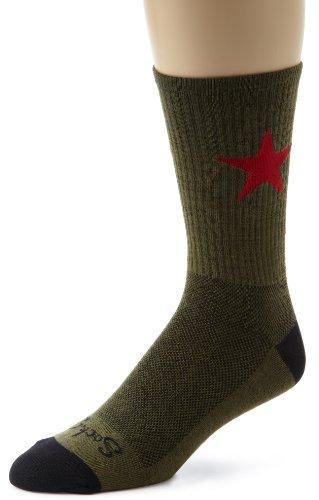 Eine Star-crew Socke (SockGuy Crew Technische Socken xl Wool Red Star)