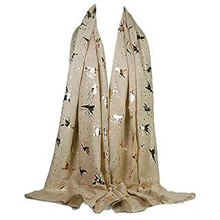 GFM Christmas Theme Fairies Angels Print Scarf (AG)(ANG-RG-HLKEK)