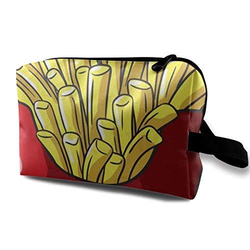 Chips Kosmetiktaschen Aufbewahrungstasche Schminktasche Mit Bürstenbeutel Tragbarer Reißverschluss Brieftasche Handtasche Für Frauen Notwendig
