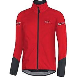 Gore Bike Wear, Chaqueta para Ciclismo en Carretera, Hombre, Tex Active, Power Jacket, Talla M, Rojo/Negro, JGTPOW