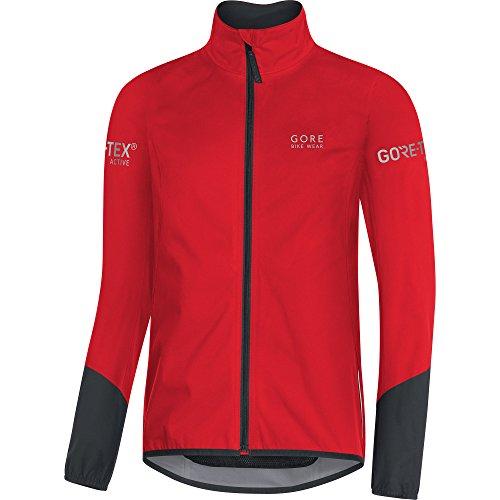 GORE BIKE WEAR, Chaqueta para ciclismo en carretera, Hombre, GORE TEX Active, POWER Jacket, Talla L, Rojo/Negro, JGTPOW