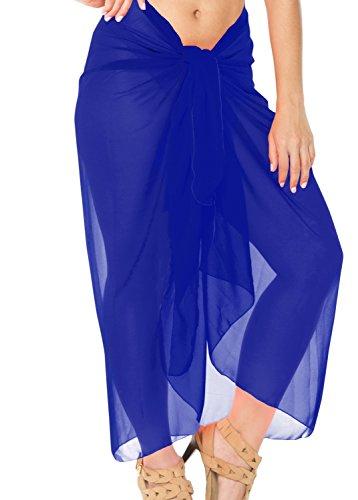 Knoten Sarong / eingebaute Binder greifen Badeanzug Bikini Vertuschung Bademode Badeanzug Königsblau