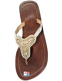 Unbekannt Damen Flip Sandale Raute Zehentrenner Zehenpantolette