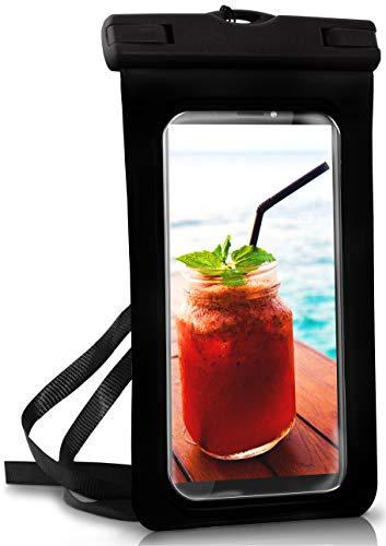 ONEFLOW® wasserdichte Handy-Hülle für alle HTC Modelle | Touch- & Kamera-Fenster + Armband und Schlaufe zum Umhängen, Schwarz (Ocean-Black) - Wasserdichte Desire Htc Tasche 510