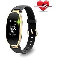 Fitness Armband für Frauen Schrittzähler Fitness Tracker Pulsmesser Fitnessuhr IP67 Wasserdichte Bluetooth Aktivitätstracker Kalorienzähler Herzfrequenzmesser mit Sleep Monitor für Android,iPhone