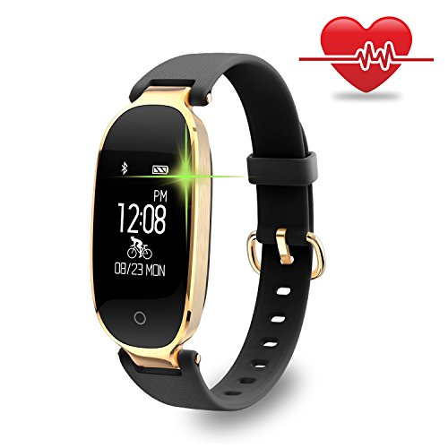 Fitness Tracker for Women Heart Rate Monitors Step Counter Activity Trackers Smart Bracelet IP67 Waterproof Bluetooth Pedometer with Sleep Monitor for Android,iPhone, Samsung by WOWGO