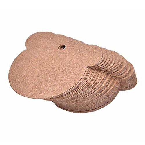 Taylor Kelsen 100Kraftpapier mit Kordel Valentine 's Day Papier Tag DIY Label Geschenk Backen Paket Aufhängen Tags weiß Einheitsgröße Style L