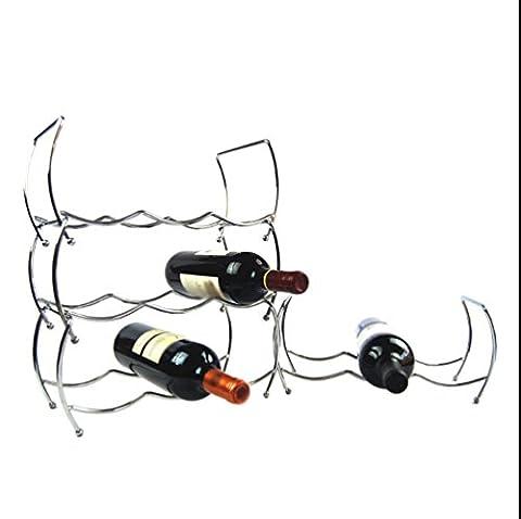 JunQi Étagère À Vin Murale Creative Peut Être Démantelé 3-Tier Wine Rack