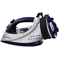 Russell Hobbs Easy Store Plug and Wind Iron 18617, 2400 W - White and Purple