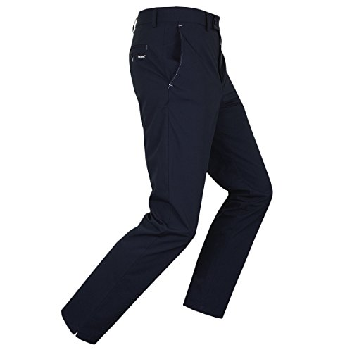 NEW 2017 Stromberg Weather Lite Windproof Tech Pants Water Resistant Mens Golf Trousers - Tapered Leg Navy 32x31 Stromberg Golf
