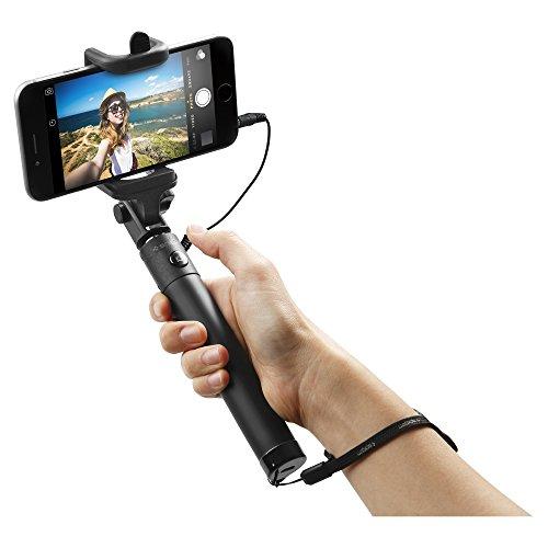 Spigen Selfie Stick [Ohne Batterie] mit Kabel [Verstellbar] Leicht für iPhone SE/6/6s, Samsung Galaxy, LG, Huawei, OnePlus, Xiaomi etc. (Nicht kompatibel mit iPhone 7/7 Plus/8/8 Plus/X) - S520W