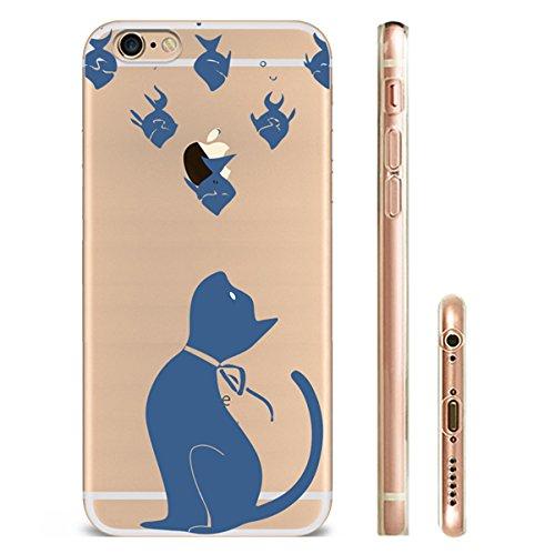 iPhone 7 Hülle Katze TPU Silikon Schutzhülle Handyhülle Case - Klar Durchsichtig Clear für das iPhone 7/7plus cat45