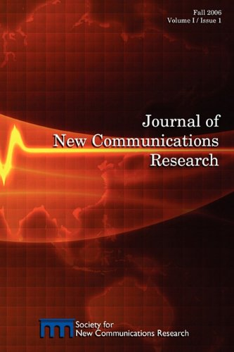 Journal of New Communications Research, Vol I, Issue 1