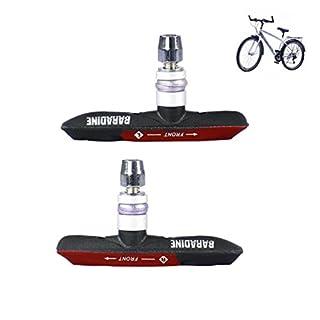 RUNACC Bike Bremsbeläge Praktische Fahrrad Bremse Blöcke rutschfeste Fahrrad Scheibenbremse –, geeignet für alle Fahrräder, ein Paar, Blau, Rot, Grün rot rot